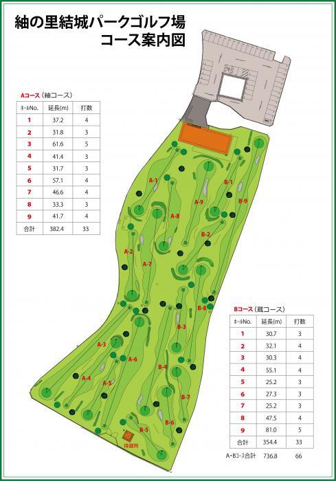 紬の里結城パークゴルフ場コース案内図