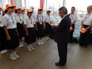 20160805広島平和記念式典中学生派遣 出発式