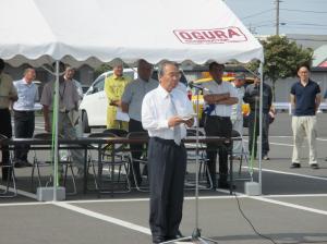 20160810「道の日」道路美化清掃活動出発式