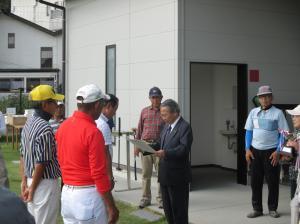20161002第2回結城市長杯パークゴルフ大会閉会式