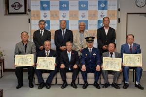 20161021 結城地区防犯協会県表彰授与式