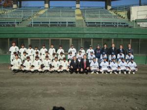 20161203小山市結城市友好親善中学生野球大会閉会式