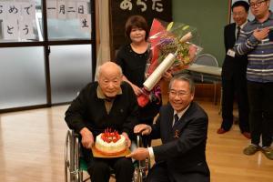20161223 百歳祝い 鈴木武男