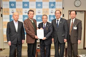 20161226 富士見町・逆井・四ッ京地区土地区画整理事業組合 要望書提出