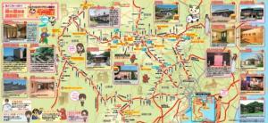 『絹のみちスタンプラリーマップ』の画像