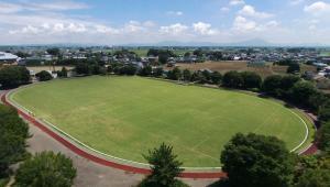 『サッカー場上空写真』の画像
